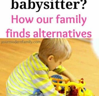 can't afford a babysitter? How one family makes it work