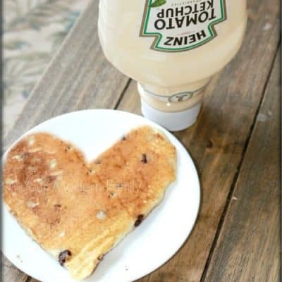 how to make heart pancakes from a ketchup bottle