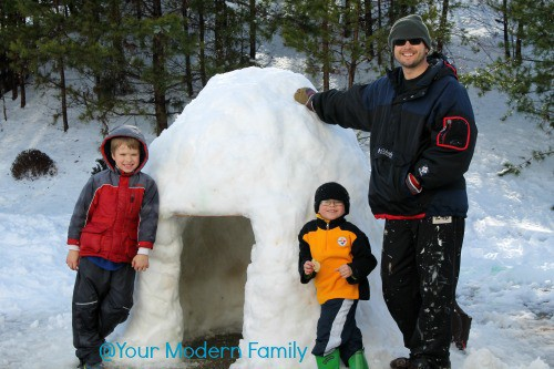 igloo fun! How to build an igloo out of snow