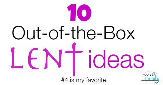Catholic lent ideas