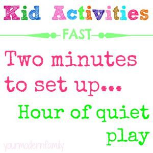 quiet time activities in a hurry