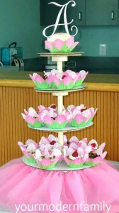 DIY cupcake tower - step by step