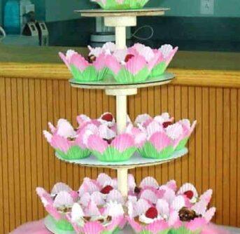 DIY cupcake tower - step by step