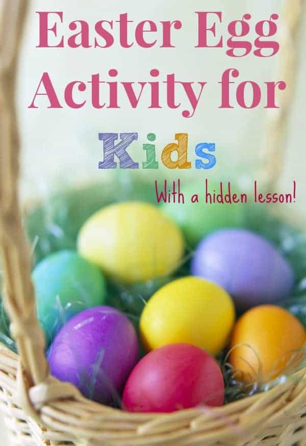 Easter Egg Hunt to teach the meaning of Easter