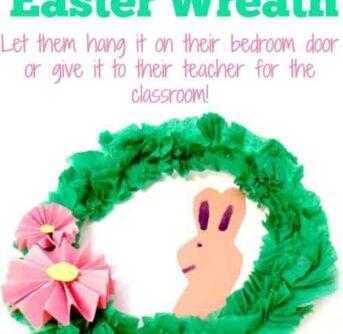 KIDS DIY Easter Wreath