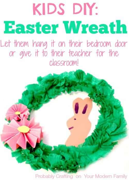 Child's DIY Easter Wreath