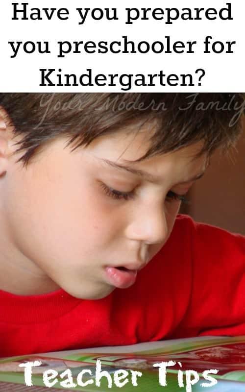 Tips to prepare your preschooler for Kindergarten