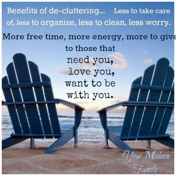 benefits of de-cluttering your home