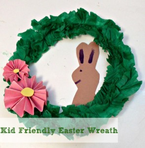 Kid Friendly Easter Wreath