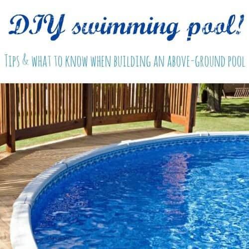 diy above ground pool tips