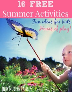 16 FREE summer activities to keep your kids busy for hours!