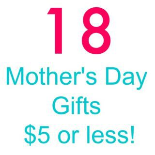 18 Mother's Day Gift Ideas -most are DIY or under $5!