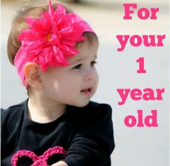 5 learning activities for your one year old