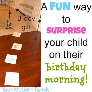 Birthday morning idea {See a HUGE birthday smile!}