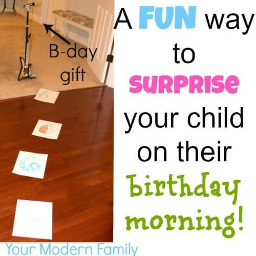 birthday morning idea   your modern family