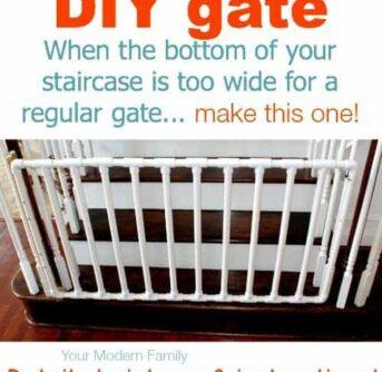 DIY gate for bottom of steps