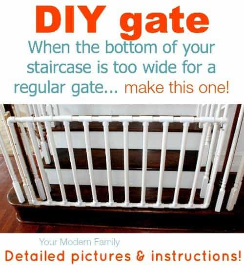 Diy Gate For Bottom Of Wide Staircase