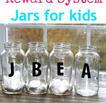 DIY reward system jars