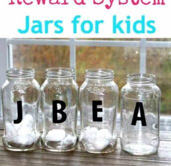 DIY reward system jars