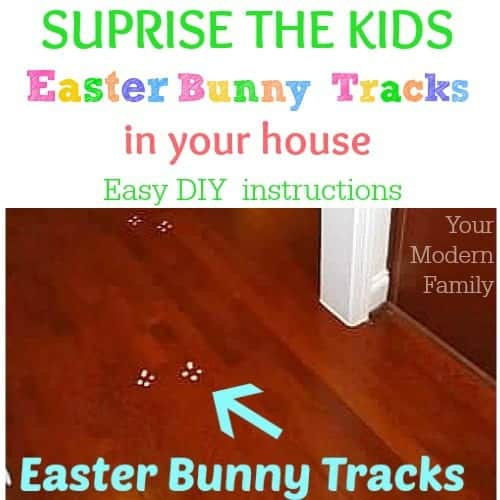 Bunny Tracks in our house { diy Easter bunny tracks }