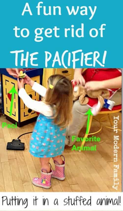 How to get rid of a pacifier using a stuffed animal