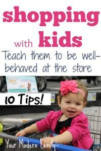 Shopping w kids (tips for calm shopping trips! )