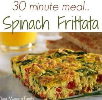 quick spinach frittata