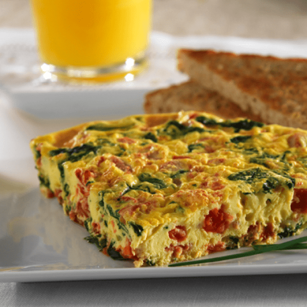 Quick Spinach Frittata – 30 minute meal