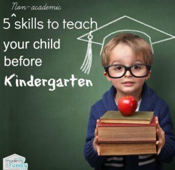 5 non academic skills to learn before kindergarten