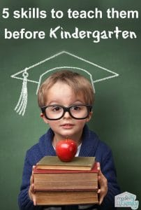 pin for 5 skills to teach them before kindergarten