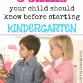 5 things your child should know before starting Kindergarten