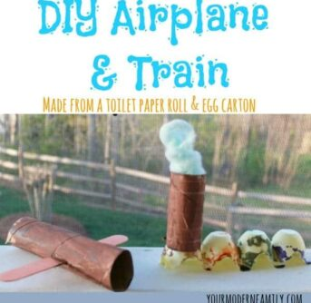 DIY airplane & train craft