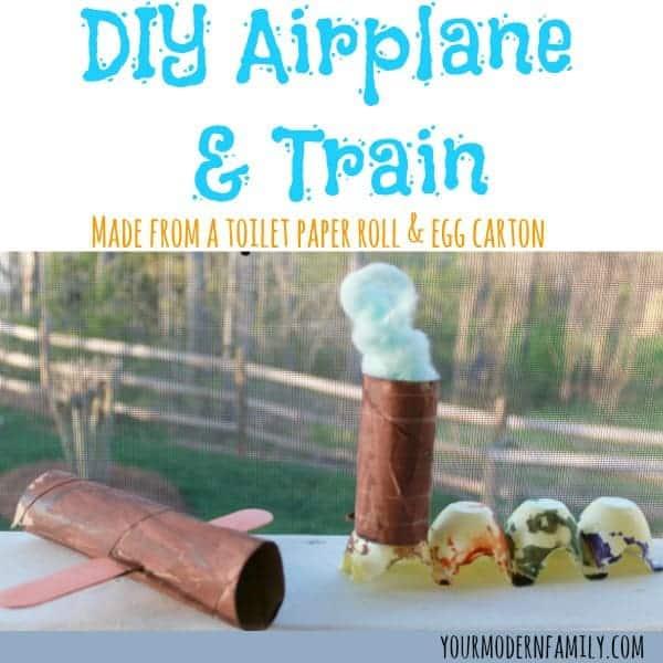 Diy Airplane Train Craft