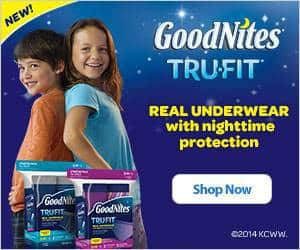 A close up of a box of Goodnight Underwear.
