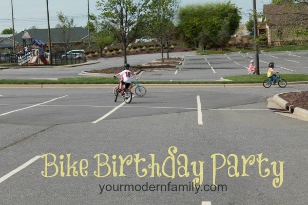 bike birthday party