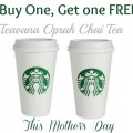 buy one get one tea free starbucks