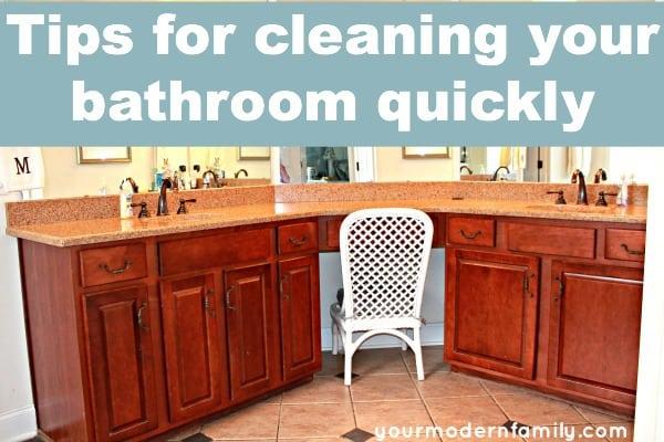 clean bathroom quickly