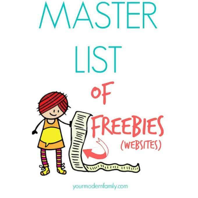 master list of freebies websites