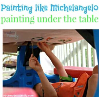 painting under the table like Michelangelo
