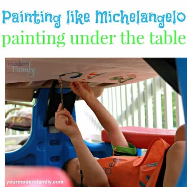 painting under the table