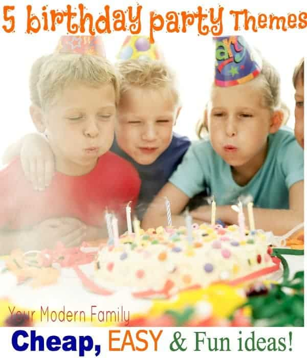 easy cheap birthday party themes