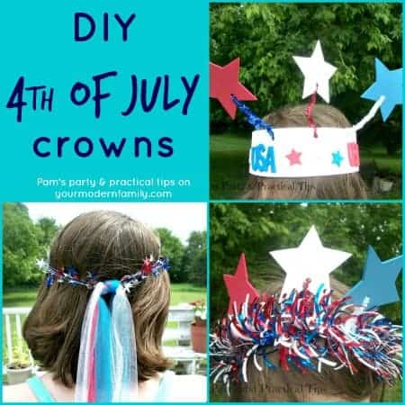 DIY 4th of July Crowns