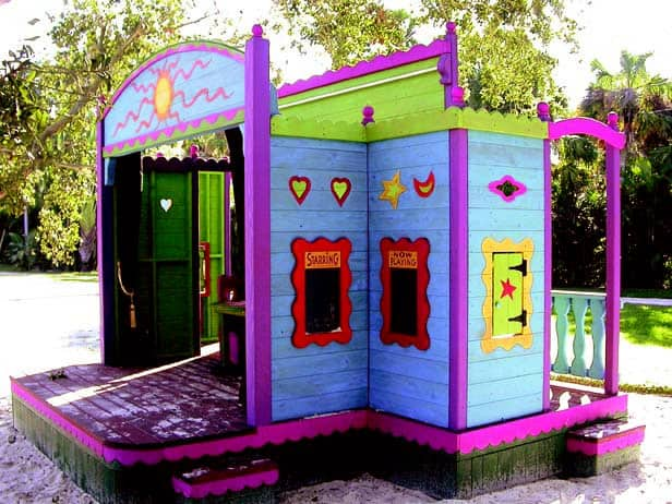 A colorful playhouse.