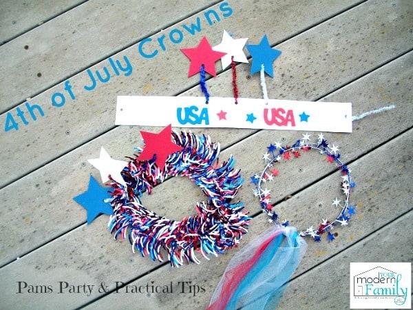 diy july 4th crowns