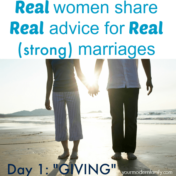 Women in long-standing strong marriages give marriage advice. Day 1- giving