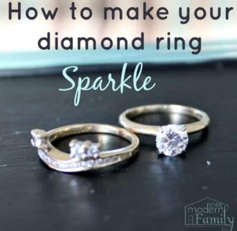 how to make your diamond ring sparkle
