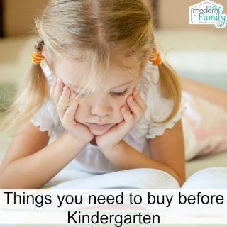 Summer Before Kindergarten – 4 things you'll want to buy before Kindergarten