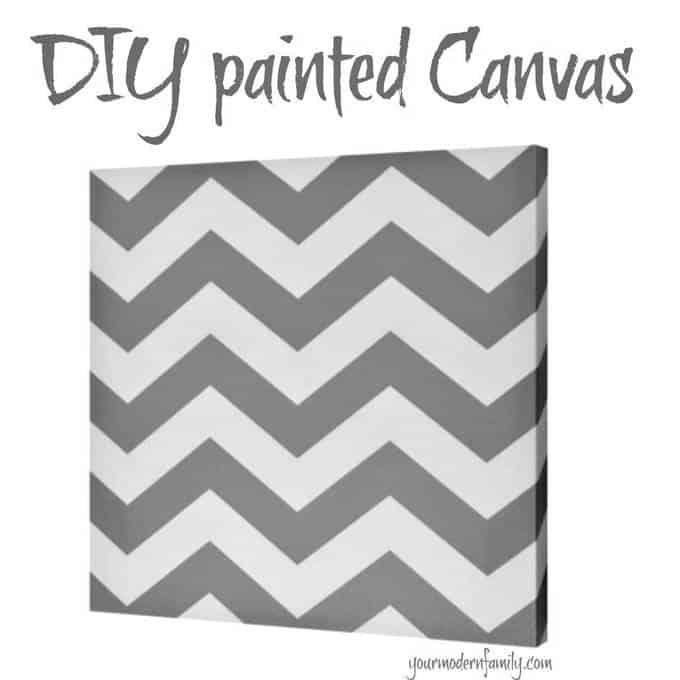 DIY canvas with a chevron design.