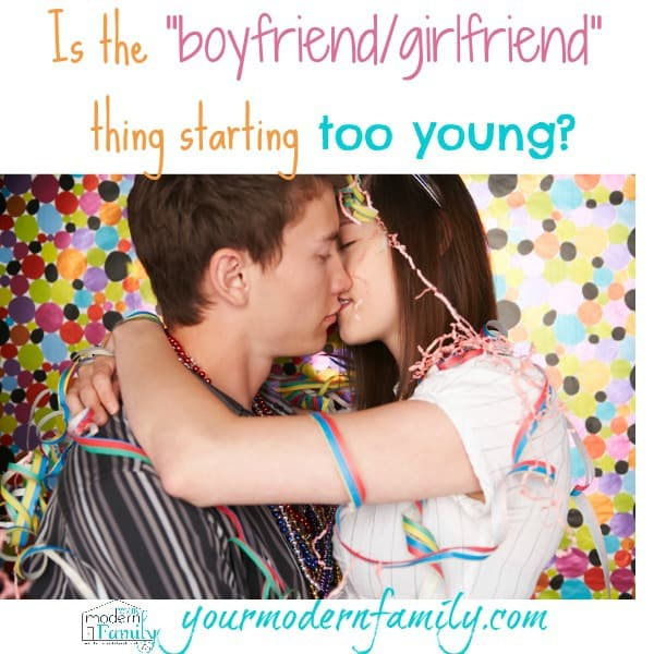 Is the boyfriend girlfriend thing starting too young
