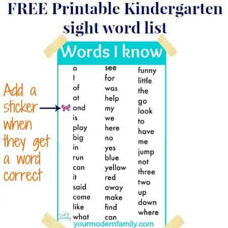 graphic regarding Printable Sight Words for Kindergarten named Kindergarten sight terms and how towards practice them